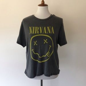 Urban Outfitters Nirvana Crop Top